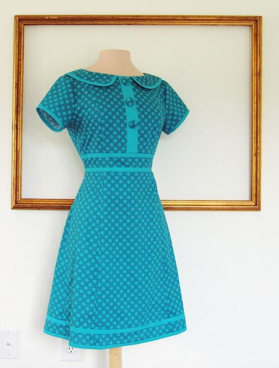 retro dress handmade clothing custom made with by MichelleTan, $145.00 I just love a Peter Pan collar.