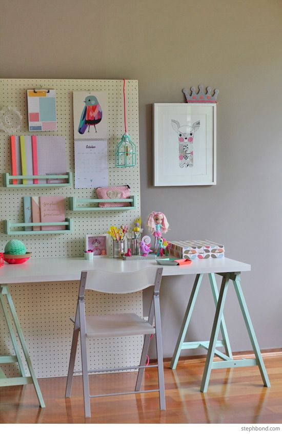 Captivating Teen Boyu0027s Room Industrial Desk. See More. A Happy And Colorful Place To  Study