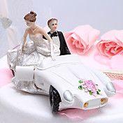 novia y el novio en el coche de huida topper ... – CLP $ 2.811