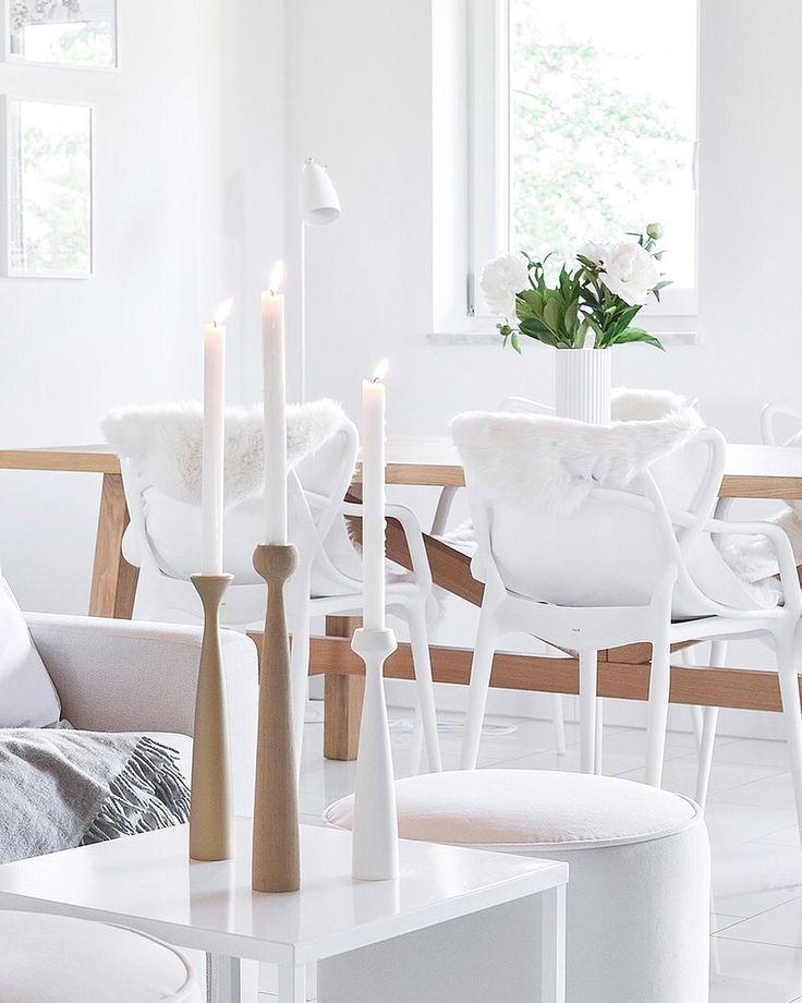 Schönen Abend! Heute mit Kerzenschein. #interieur #candle #skandinavisch #livin…
