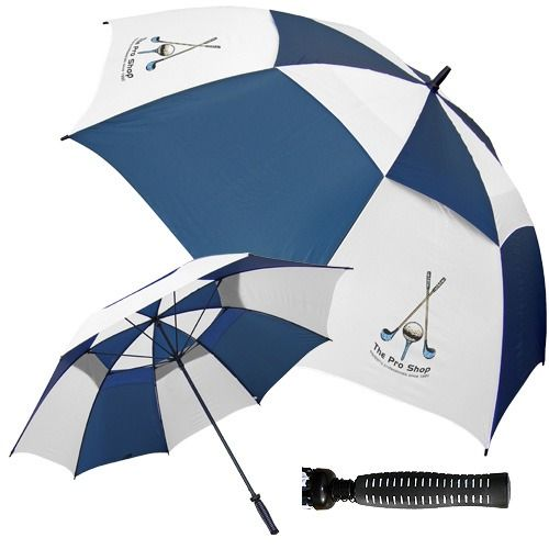 Display your logo prominently on Budget Fibreglass Vented Golf Umbrellas!   Available in 4 colourways, they feature a vented soft feel polypongee canopy, fibreglass shaft, thick fibreglass ribs and a black rubber golf grip handle!  http://bit.ly/1GGU55x