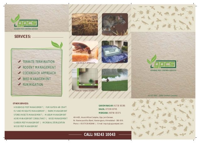 Pest Control Services/// Anti Termite Treatment   079-26402648 by Kartik Prajapati via slideshare