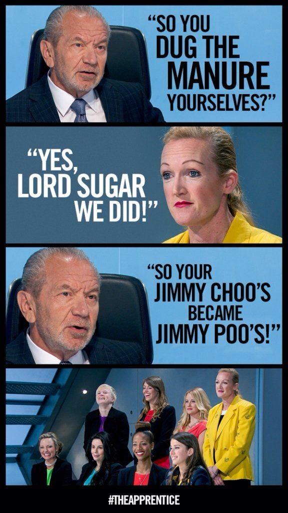 Alan Sugar causing laughs