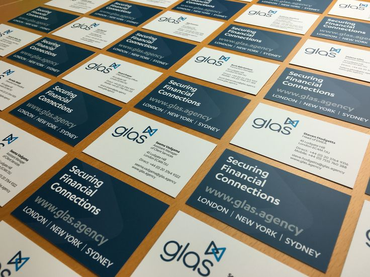 #business cards featuring a new #brand for GLAS