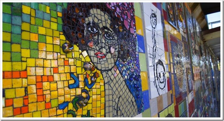 Patterson station mosaic wall.