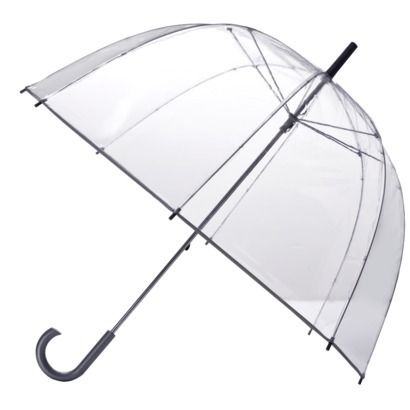 Totes Clear Bubble Umbrella - Silver Trim 16.99