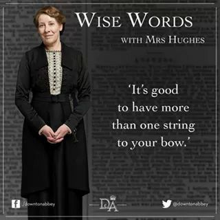 It's never too late to learn something new! :) #Downton #WiseWords