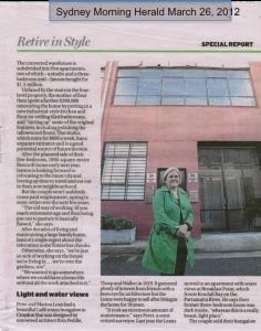 Sydney Morning Herald March 26, 2012