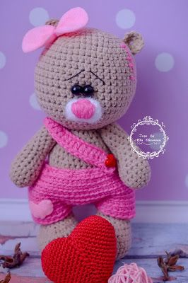 Amigurumi Valentine Teddy Bear Part Two : 412 best Crochet / knit bears images on Pinterest