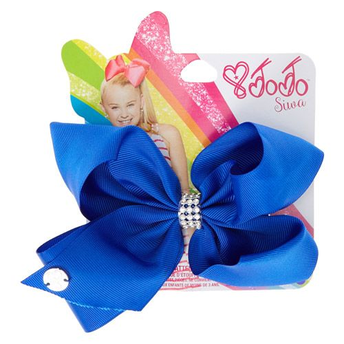 JoJo Siwa Small Rhinestone Keeper Royal Blue Hair Bow | @giftryapp