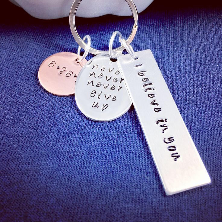 Sober recovery, never give up, I believe in you, anniversary date jewelry