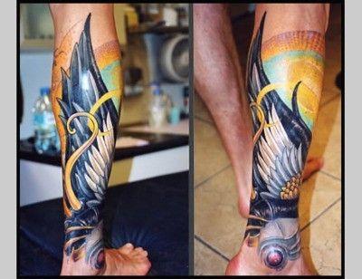Hermes Wing tattoo