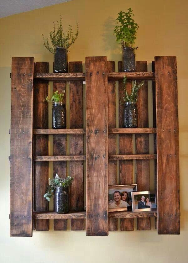 Pallet DIY - remove some boards and stain it, voila!!