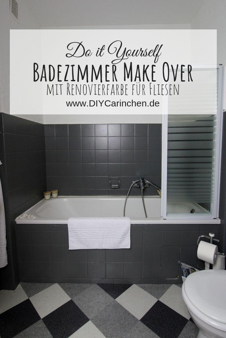 Diy Badezimmer Streichen Und Renovieren Mit Fliesenfarbe Badezimmer Streichen Badezimmer Badezimmer Renovieren