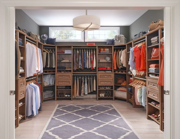 Closetmaid Design Ideas closetmaid impressions closetmaid impressions a new diy storage system available at the home organization closetmaid design gallery closetmaid design ideas Make Your Walk In His And Her Friendly With A Beautiful Neutral Walnut Finish