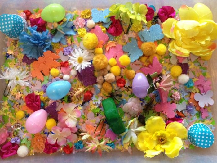 Featured from Healthy Mama Info - Spring and Easter Sensory Tub