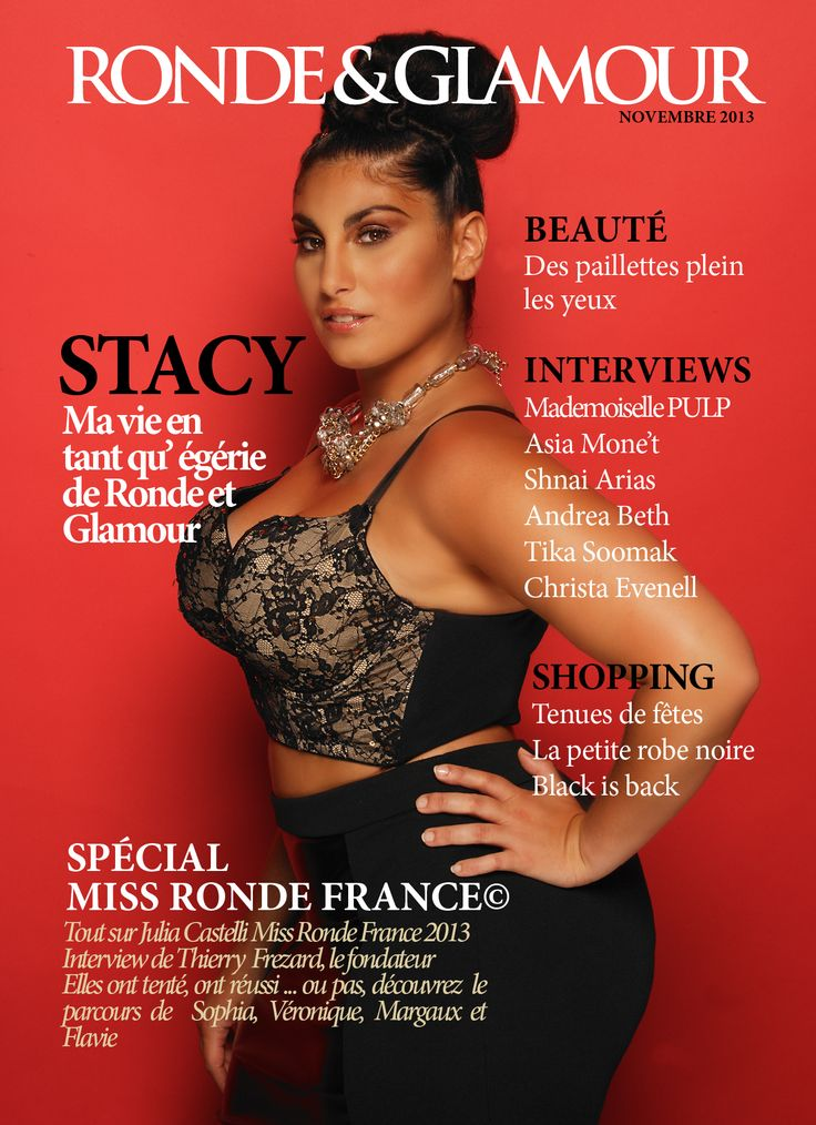 #cover #magazine #ronde #glamour #plussize #stacy #egerie