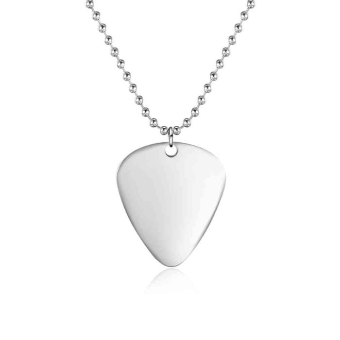 FATHERS DAY SALE! 10% off + a Gift with your purchase of AU$80 or more + postage is included to most locations Worldwide! Voucher Code NO1DAD (T&C's Apply) >>>  Guitar Pick Necklace - Stainless Steel
