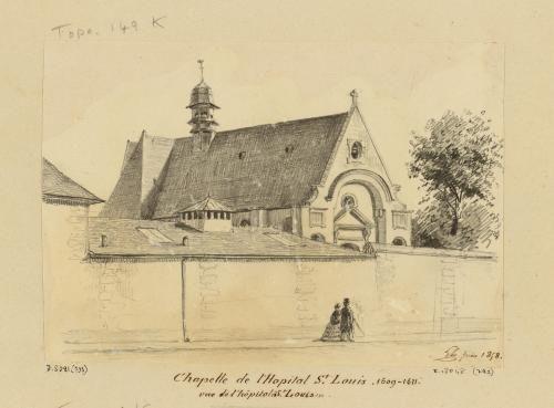 Chapelle de l'Hopital Saint Louis. 1609-1611. vue de l'hôpital Saint Louis.