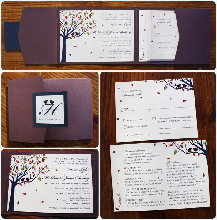 17 Best ideas about Purple Fall Weddings – Purple Fall Wedding Invitations
