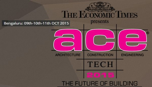 ACETECH BANGALORE 2015- 09 to 11 Oct 2015 at Bangalore International Exhibition Centre,10th Mile, Tumkur Road, Bangalore, Karnataka, India.  #Acetech2015 #ConstructionIndustry #Construction #ebuildin