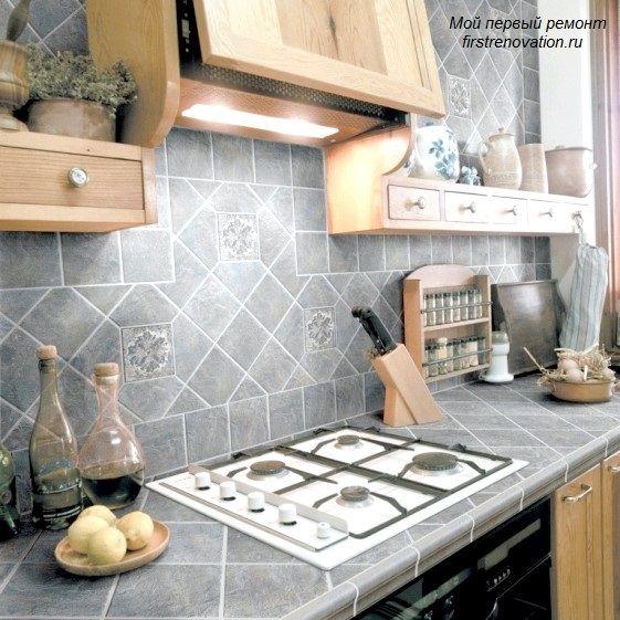 Столешница из плитки для кухни своими руками