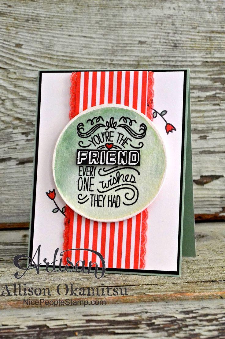 nice people STAMP!: Friendly Wishes w/ Mint Macaron & Watermelon Wonder - #tgifc02