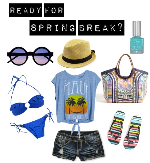 spring break must haves bikini sun flip flops accesories sun sunnies beach vacations fashion
