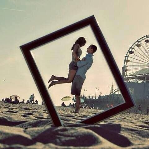 Don't necessarily like the background, but I like the idea of having the frame in the picture like that.