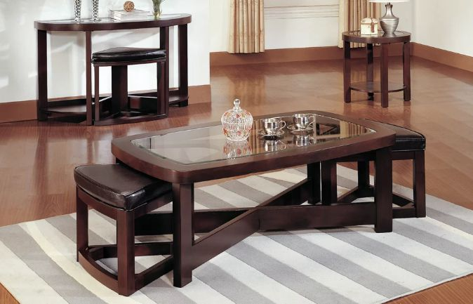 Best Coffee Table With Stools Underneath From 189 99 Coffee
