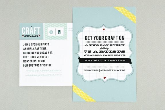 love the colors. fonts, notsomuch.: Crafts Fair, Retro Postcards, Postcards Design, Retro Crafts, Brochures Flyers Postcards, Postcards Templates, Design Templates, Classic Colors, Design Retro
