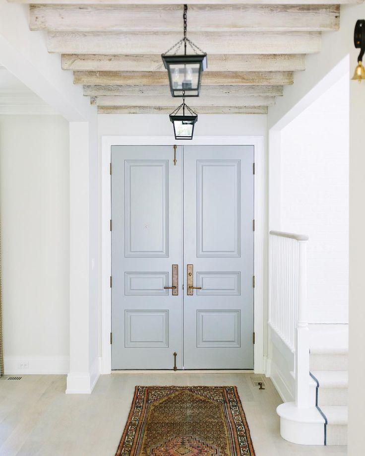 Door color is: Cape May Cobblestone by Benjamin Moore