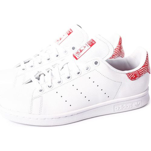 adidas Originals Stan Smith Collegiate Blanc/Rouge - Chaussures Baskets basses Femme 76,00 €