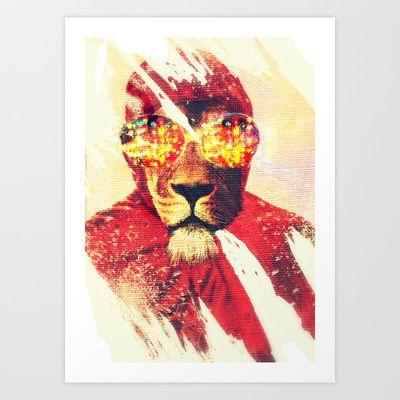 Lion Zion Art Print by zumzzet - $14.00