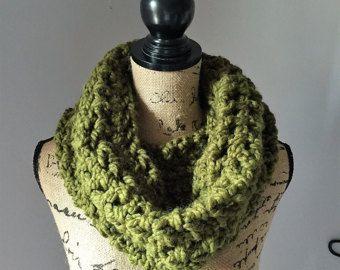 Items similar to chunky button cowl shawl neck warmer - cilantro - the anouk on Etsy