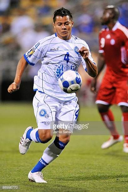 Jose Henriquez of El Salvador controls the ball against Canada during a CONCACAF Gold Cup match at Crew Stadium on July 7 2009 in Columbus Ohio
