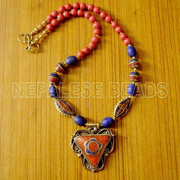 Best 368 jewelry tibetan 1 images on pinterest nepal ethnic and diya38 blue lapis red coral brass do it yourself necklace eksha diynecklace solutioingenieria Images