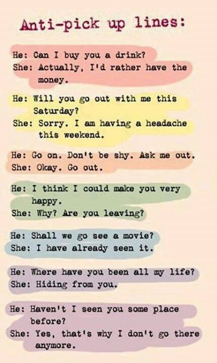 Funny Pickup Lines To Use On Guys