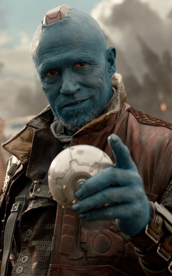 "Yondu played by Michael Rooker. Introduced in the 2014 film ""Guardians of the Galaxy."""