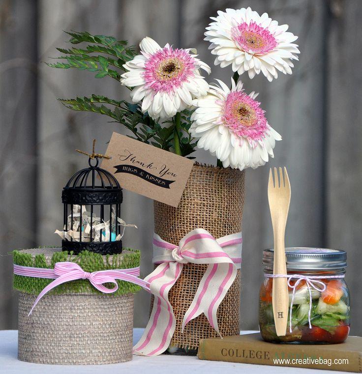 Centros de mesa flores bodas r sticas eventos r sticos - Macetas originales para plantas ...