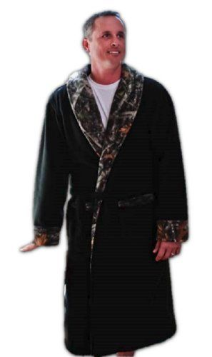 True Timber Camo Amp Black Polar Fleece Adult Robe Unisex