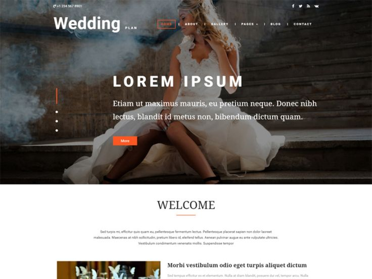 Wedding Plan is a modern and great Free Bootstrap Wedding Template for all your wedding websites in order to boost your online presence and showcase yourselves or your work around the world by using this elegantly design gorgeous looking template. This fabulously designed template is also a perfect choice for all your websites like party schedule, Wedding Agency, wedding invitation, engagement