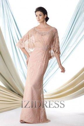 Sheath/Column Bateau Lace Mother of the Bride - IZIDRESSES.com