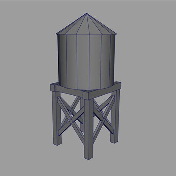 Build Wood Water Tower 3d Model Of Wooden Water Tank