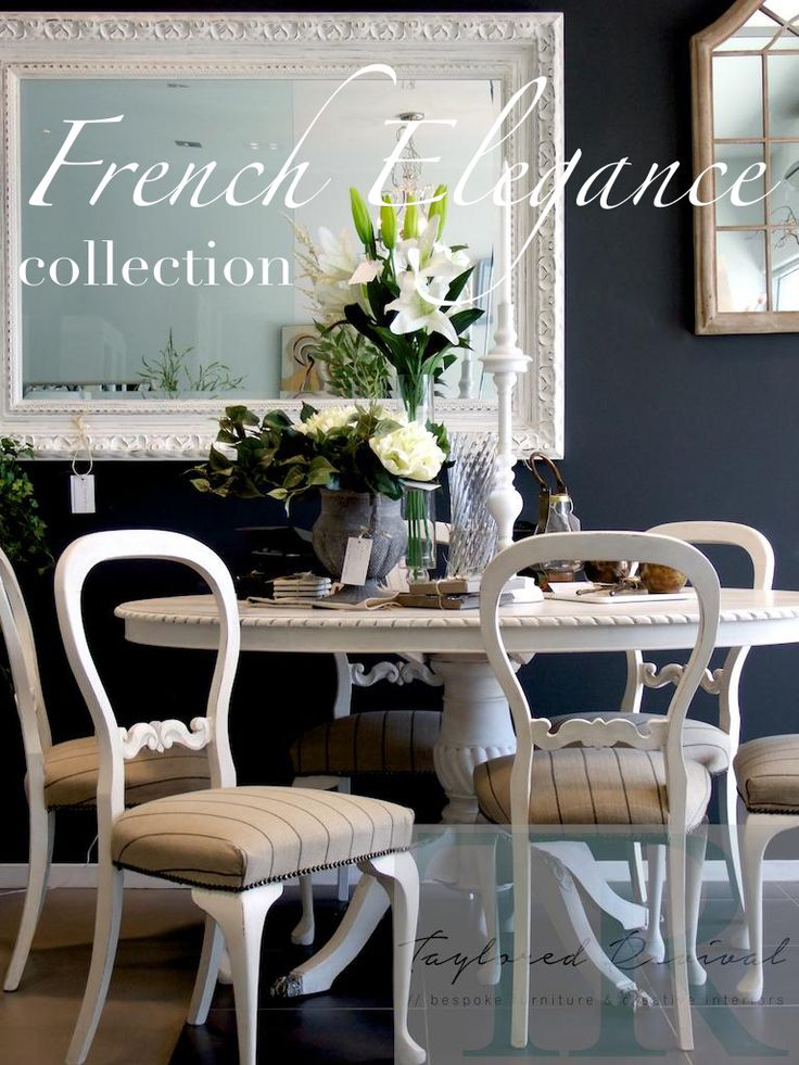 The Duponts : French Elegance collection, Pure White dining room suite.