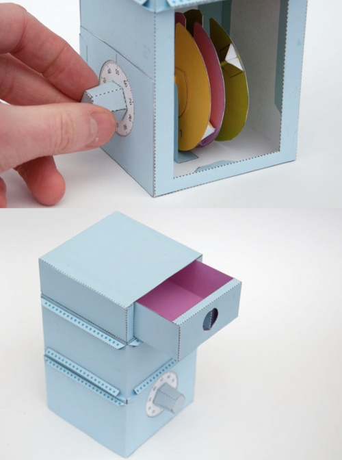 DIY Fully functioning paper safe with combination lock
