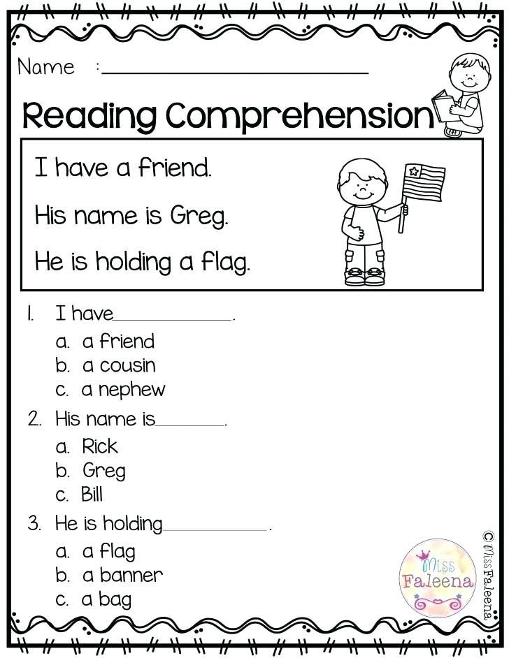 Reading Comprehension Resources Easy Worksheets Free In 2020 Reading Comprehension Kindergarten Kindergarten Reading Reading Comprehension Worksheets