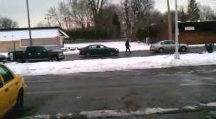 Pushing a broken down car the hard way - Stupid Videos