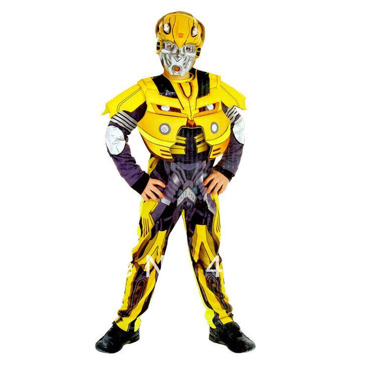 хэллоуин дети преобразования transformerss шершней костюмы для мальчиков девочек комбинезонах косплей с маской US $29.99