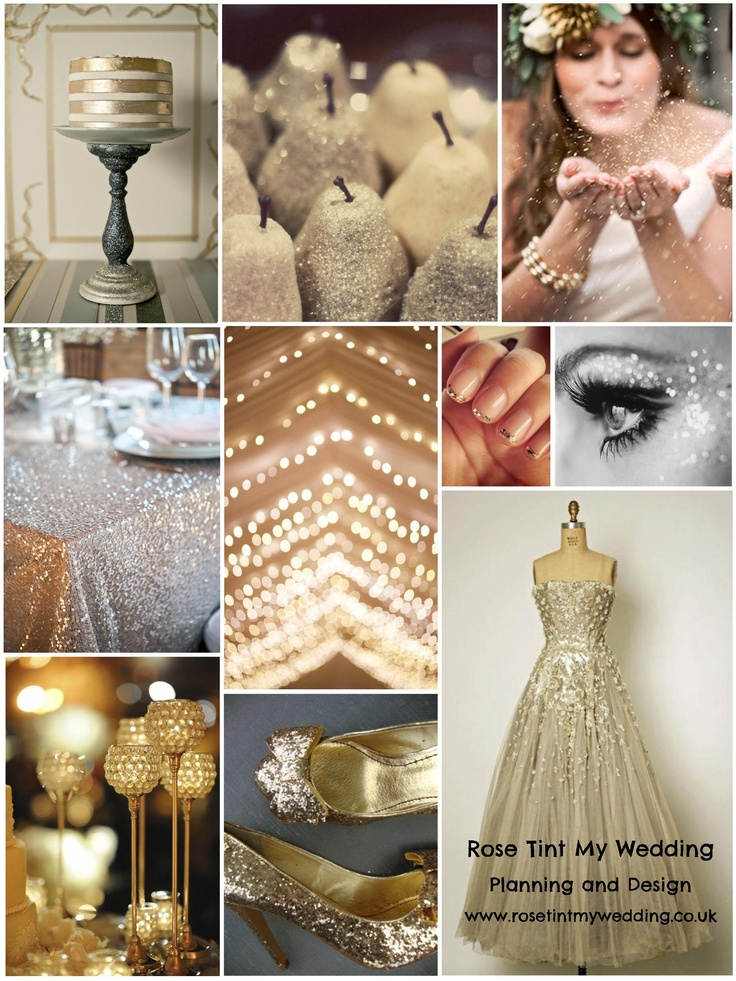 All that glitters...inspiration for a sparkling festive wedding. Need help with any aspects of wedding design and planning? Visit www.rosetintmywedding.co.uk #glitterwedding #weddingdesign #weddingstyling #weddinginspiration